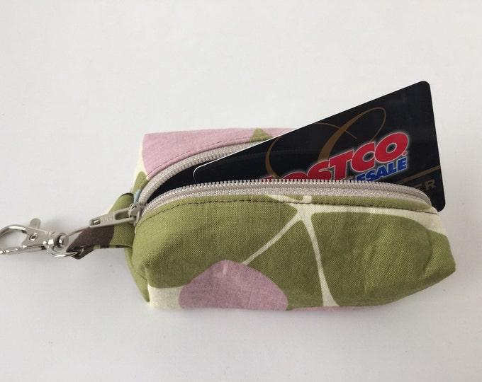 Zippered Keychain Pouch, Coin Purse, Card Holder, Tissue holder, Dog walking bag