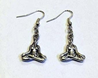 yoga earrings - meditation earrings - hippy earrings