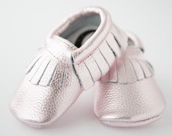 Rock Star Ballet Leather Baby Shoes Pink 6-12 Months