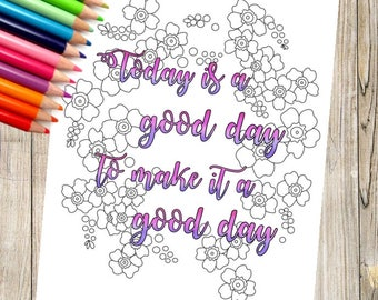 Good Day Coloring Page