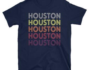 Houston Souvenir Shirt / Retro Houston Shirt / Women's Houston Shirt / Houston Texas T Shirt for Men / Houston Tee / Vintage Houston Art