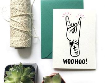 Encouragement Greeting Card| WOOHOO!
