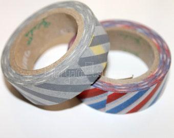 20% OFF Washi Tape Set - Japanese Washi Tape - Masking Tape - Deco Tape - 2 Rolls - WTS2010