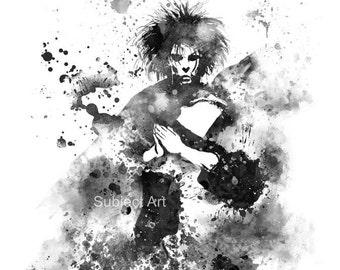 The Sandman, Dream ART PRINT illustration, DC, Superhero, Wall Art, Home Decor