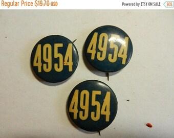 Spring Sale 3 Vintage 4954 Political Campaign Buttons