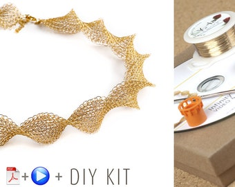 Infinity Wire Crochet Necklace - how to crochet a necklace with wire - DIY KIT