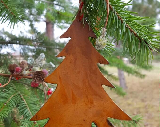 Tree Christmas Ornament, Rustic Metal Tree, Rustic metal ornament, Metal Christmas Tree, Christmas Decor, Rustic Christmas Tree Ornaments,