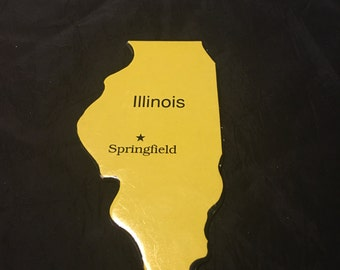 State of Illinois Craft Scrapbook Embellishments Puzzle Piece