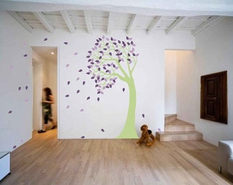 Wind blown tree - great for kid's room