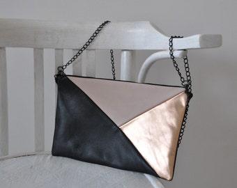 Leather Clutch, Handbag, Evening Clutch, Cross-body Bag, Leather Handbag
