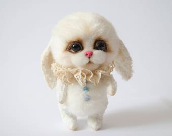 Teddy bunny toy White bunny toy Easter bunny toy Artist bunny Artist rabbit Bunny soft toy Cute bunny toy Collectible toy Teddy bear toys