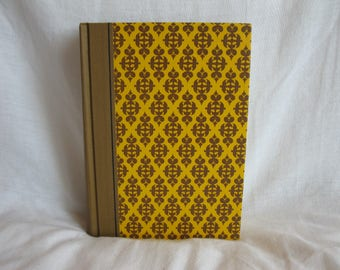 Yellow decorative book, Readers Digest best loved books, vintage home decor, book lovers gift, yellow and brown book, vintage books