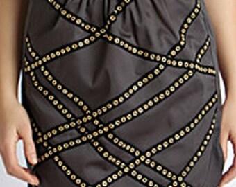 Grommet mini skirt