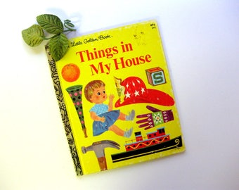 Vintage Little Golden Book, Things in My House, 1968