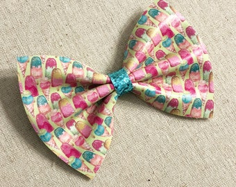 Popsicle Faux Leather Hair Bow