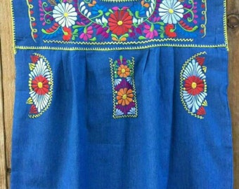 Mexican Embroidered peasant maternity Blouse size 1XL to 2XL