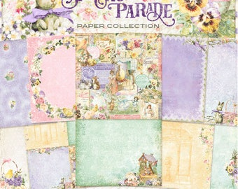 Blue Fern Spring Parade Collection  12 x 12 Scrapbook Paper Full Collection Pack, 2-Each Of 10 Designs, 20 Double Sided Papers Total