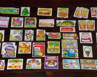 1980s Vintage Collection of 52 Mello Smello Scratch and Smell Sniff Stickers