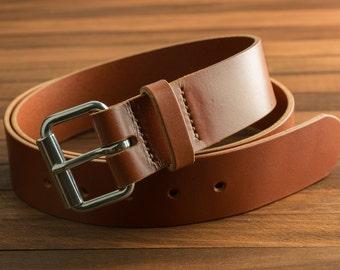 Chestnut Handmade Leather Belt