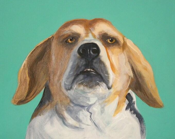 Beagle blank greeting card