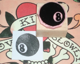 Magic 8-Ball Rubber Stamp by Skull and Cross Buns