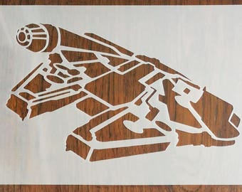 Millennium Falcon Star Wars Stencil Mask Reusable PP Sheet for Arts & Crafts, DIY