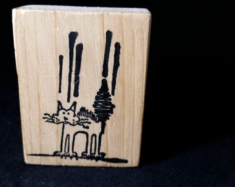 Frightened Kitty Rubber stamp View all Photos