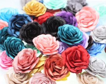 Satin accessories etsy 1050100 pcs satin multicolor flower 30 mm decorative satin flower wedding accessories do it yourself project sewing supplies solutioingenieria Choice Image