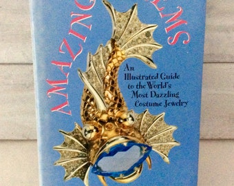 Vintage book - costume jewelry - Amazing Gems - Art Nouveau - Art Deco - Hard cover - first edition - jewelry reference - guide