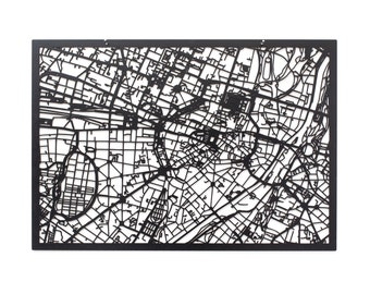 3D City Map of MUNICH, 59x42cm (73x53cm)