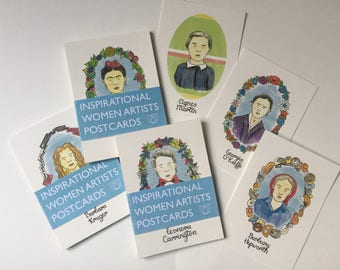 Inspirational Women Artists Postcards