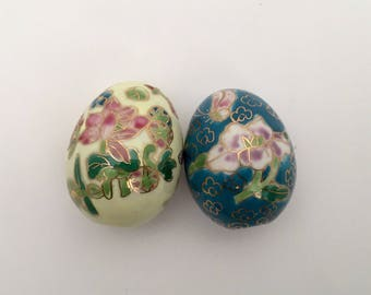 Handpainted Chinese Porcelain Eggs.