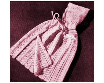 Hooded Cape for Your Sleeping Beauty or Little Red Riding Hood 1950s - Knit pattern PDF 5130