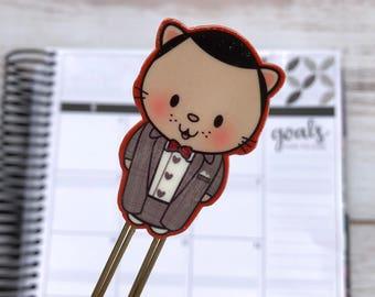 Kitty Purrman Planner Clip, Pee-wee Bookmark, Pee-wee Herman Decorative Clip