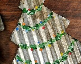Tin Christmas Tree Ornament