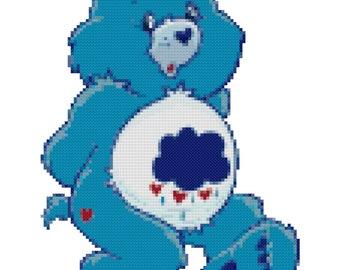 Grumpy Bear Cross Stitch Pattern (PDF)