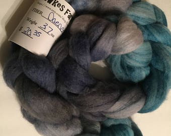 Polworth/Silk Blended Roving -Daenerys