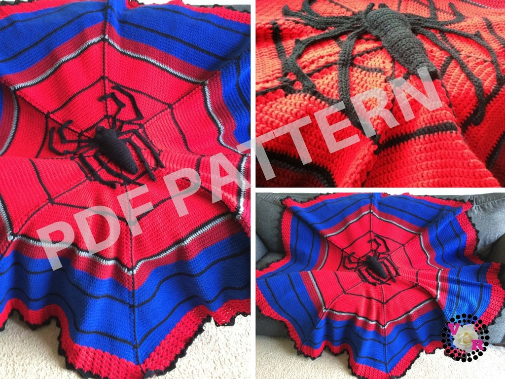 Spiderman spider man blanket crochet pattern avengers zoom jeuxipadfo Images