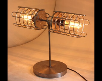 Industrial Handmade 'Ooshi' Steampunk Table Lamp Modern Design Machine Cosplay Edison Bulb Made in USA