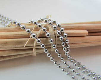 3 m of stainless steel ball chain - ball 1.5 mm - 53.50