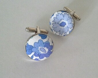 Liberty of London floral print  cufflinks