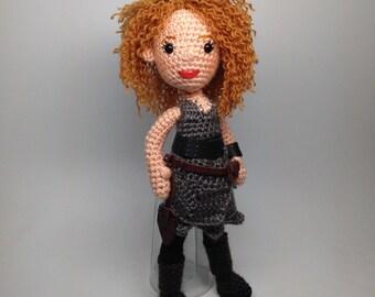 River Song Doctor Who Companion Amigurumi Crochet doll Pattern