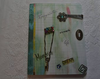 "Altered Composition Book - Imagination Journal, full size (7.5"" x 9.75"")"