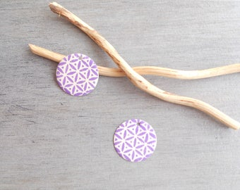 Set of 4 lilac and ivory sequins