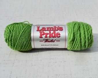 Lime Lamb's Pride WORSTED Yarn, Yarn Destash