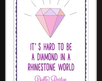 Dolly Parton Diamond in a Rhinestone World Unframed Print