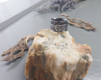cactus spinner ring, .925 sterling silver jewelry, size 6.5, yoga anxiety ring, stress ring, birthday presents for her, gifts for girlfriend