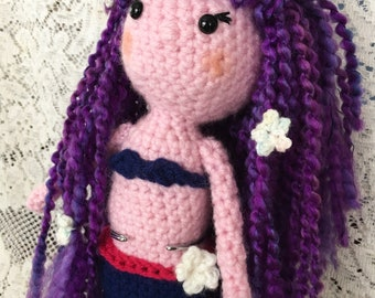 Calypso ~ crochet mermaid amigurumi doll
