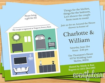 Around the House Wedding Couple Shower Invitation