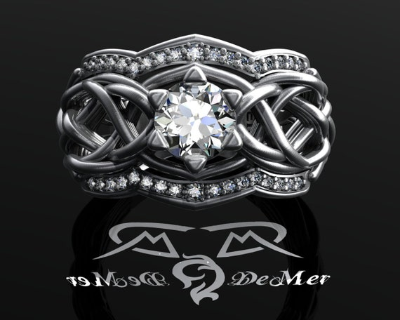 specifications wedding white gold worked unique engraved ring rings elvish hand inspired